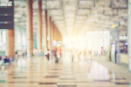 国際空港の人々の記事に空港で背景ボケの抽象のためのぼかし。 写真素材