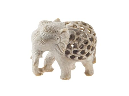 The souvenir Indian elephant on a white background Stock Photo