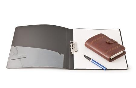 Office folder diary Stock Photo - 8774014