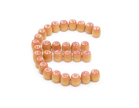 Barrels bingo in the form of Euro photo