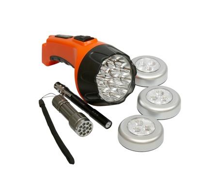 The flashlights Stock Photo