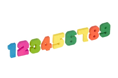 Wooden numbers photo