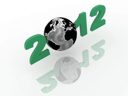 Global Network in 3d with World Globe 版權商用圖片