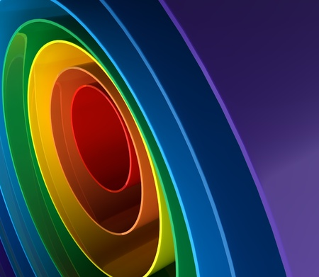 Close up of a abstract colorful rainbow texture Stock Photo