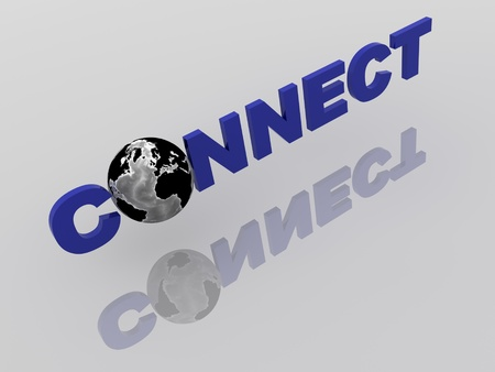 Global Network in 3d with World Globe Stock Photo - 9650651
