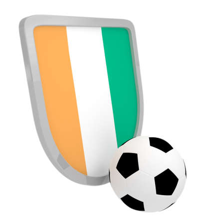Cote d`Ivoire shield soccer isolated on a white background photo