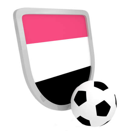Egypt shield soccer isolated on a white background photo