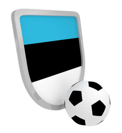 Estonia shield soccer isolated on a white background photo