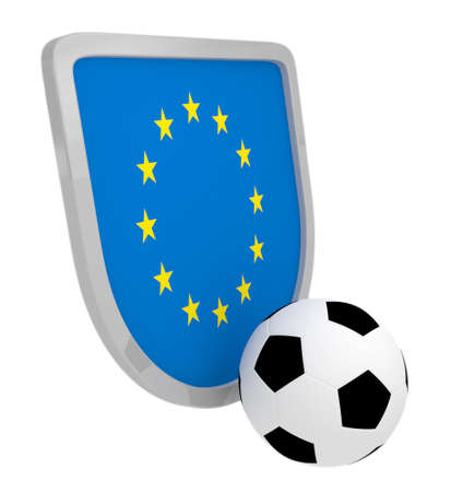 Europe shield soccer isolated on a white background photo