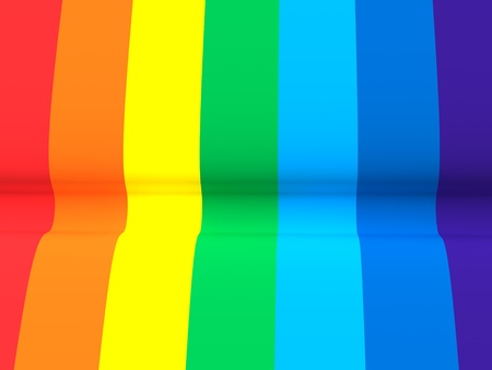 Close up of a colorful rainbow texture Stock Photo