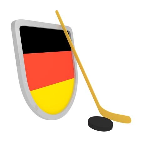 Germany shield ice hockey isolated on a white background photo