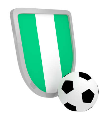 Nigeria shield soccer isolated on a white background photo