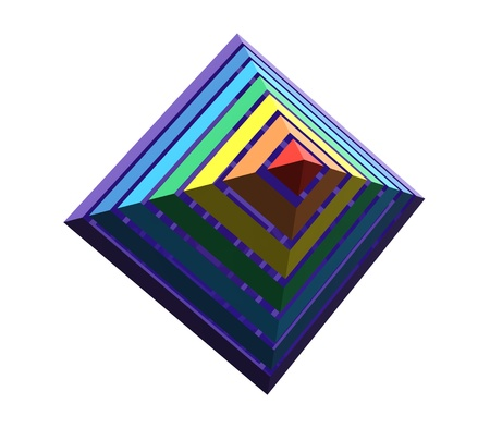Close up of a abstract colorful rainbow pyramid