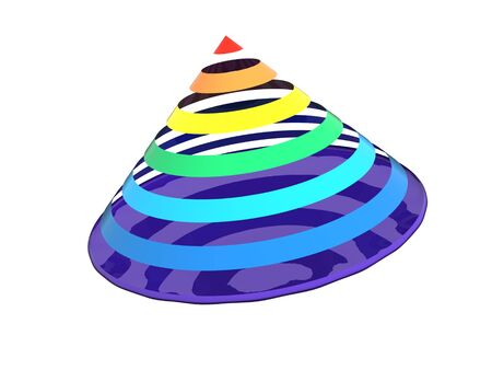 Close up of a abstract colorful rainbow cone