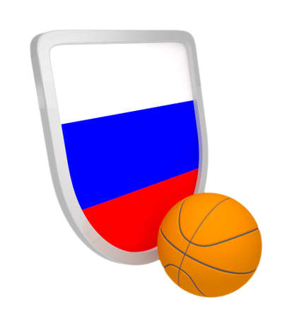 Russia shield basketball isolated on a white background