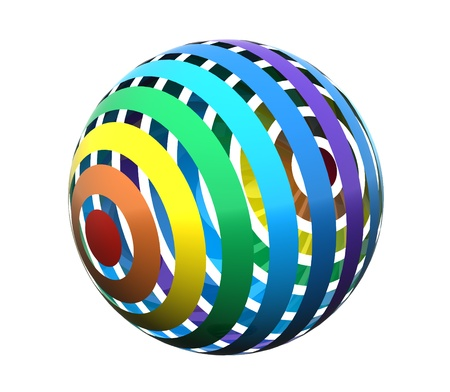 Close up of a abstract colorful rainbow  sphere photo