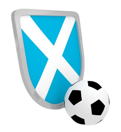 Scotland shield soccer isolated on a white background photo