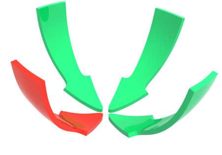 Close up of a color arrow Stock Photo