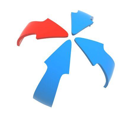 Close up of a color arrow Foto de archivo