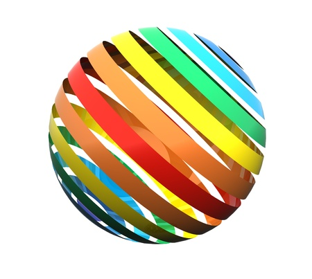 sphere: Close up of a abstract colorful rainbow  sphere Stock Photo