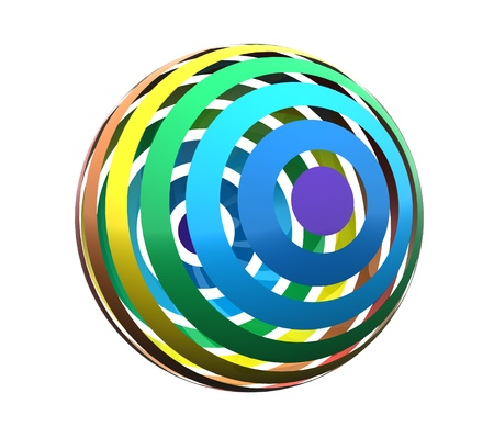 Close up of a abstract colorful rainbow  sphere Stock Photo