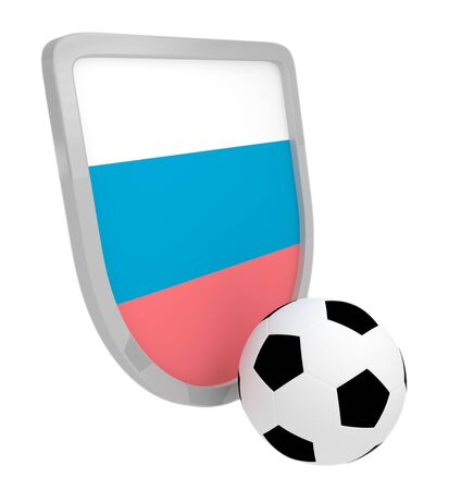 Slovenia shield soccer isolated on a white background photo