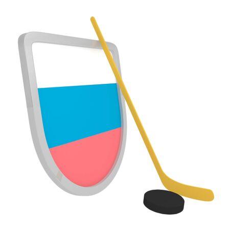 Slovenia shield ice hockey isolated on a white background photo
