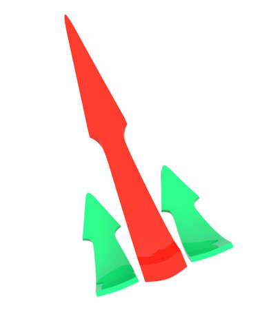 Close up of a color arrow photo