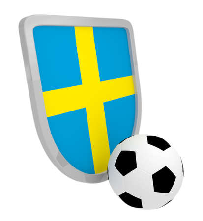 Sweden shield soccer isolated on a white background photo