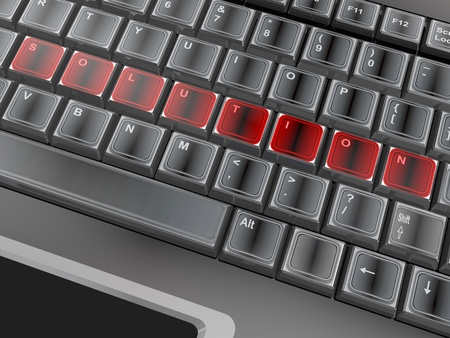 3d of the word on a keyboard photo