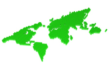 The green polygons map of the world photo