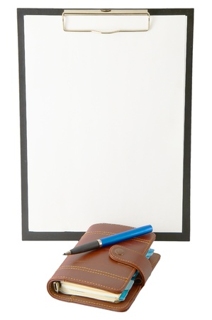 Office folder diary isolated on a white background Stock Photo - 9736455