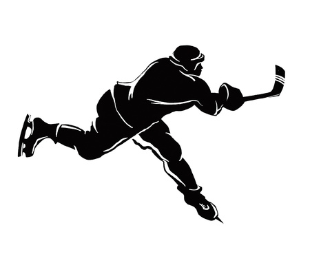This image shows the winter sports isolated on a white background 版權商用圖片