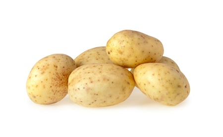 Close up of a Potatoes isolated on a white background photo