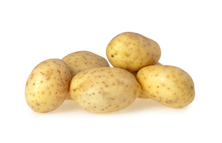 Close up of a Potatoes isolated on a white background