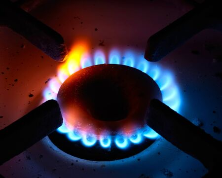 The close up gas burner on a background Stock Photo - 11083247