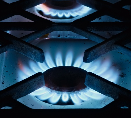 The close up gas burner on a background Stock Photo - 11083338