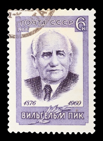USSR - CIRCA 1966: A stamp printed in the USSR, shows Vilgelm Pik 1876-1960, circa 1966