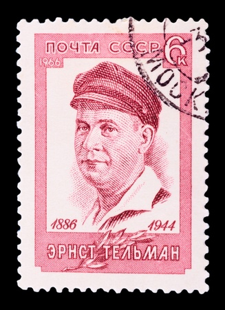USSR - CIRCA 1966: A stamp printed in the USSR, shows ERNST TELMAN (1886-1944), circa 1966