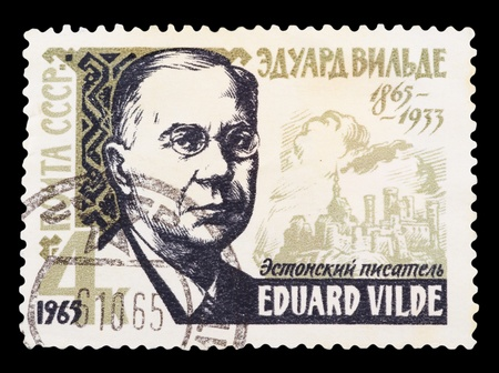 USSR - CIRCA 1965: A stamp printed in the USSR, shows A. Vilde 1865-1933, circa 1965