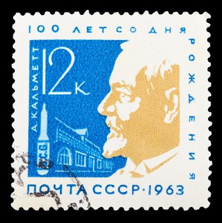 RUSSIA - CIRCA 1963: stamp printed by Russia, shows Albert Calmette, circa 1963.