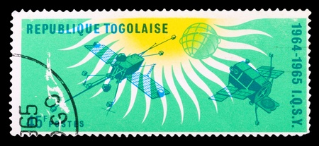 CUBA - CIRCA 1975: stamp printed in Cuba shows spaceships, circa 1975 photo