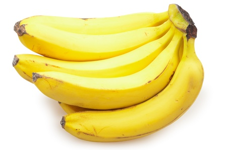 Bananas isolated on a white background photo