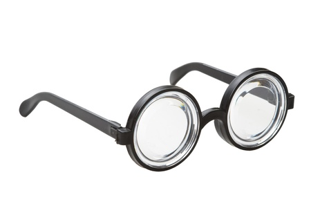 myopic: short-sighted glasses isolated on a white background