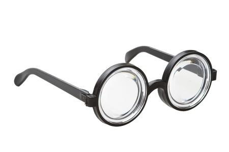 shortsightedness: short-sighted glasses isolated on a white background