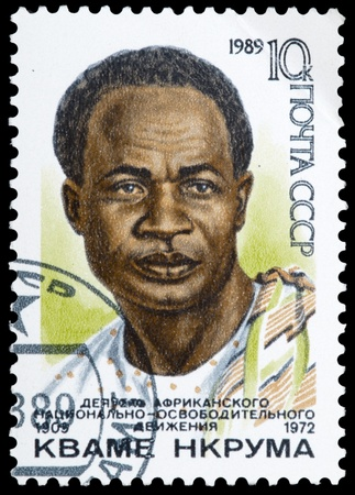 USSR - CIRCA 1989: A stamp printed in USSR shows K. Nkruma, circa 1989.
