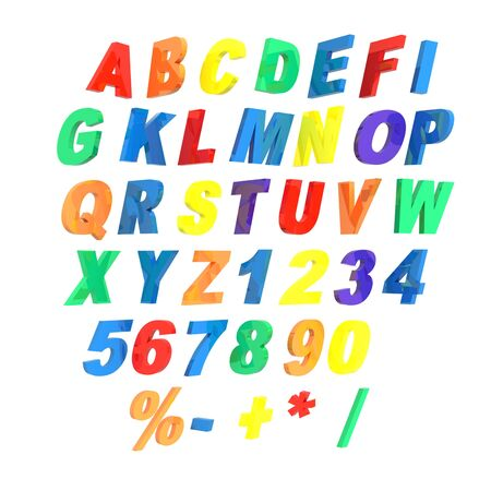 nb: 3d alphabet isolated on a white background