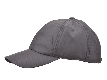 Black Baseball Cap isolated on white photo
