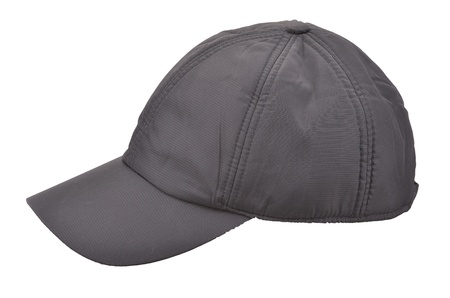 Black Baseball Cap isolated on white Stock Photo - 12150960
