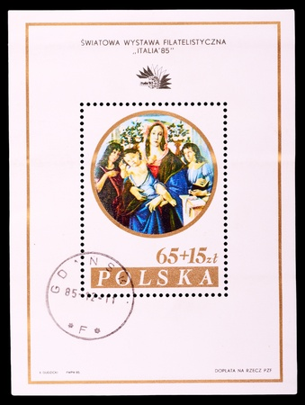 canceled: POLAND - CIRCA 1985: A stamp printed in Poland shows draw by picture, circa 1985
